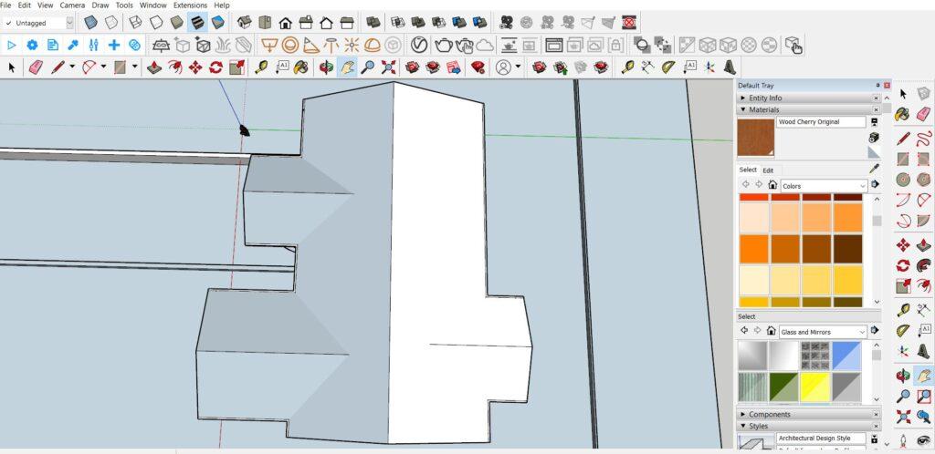 sketchup çatı modelleme
