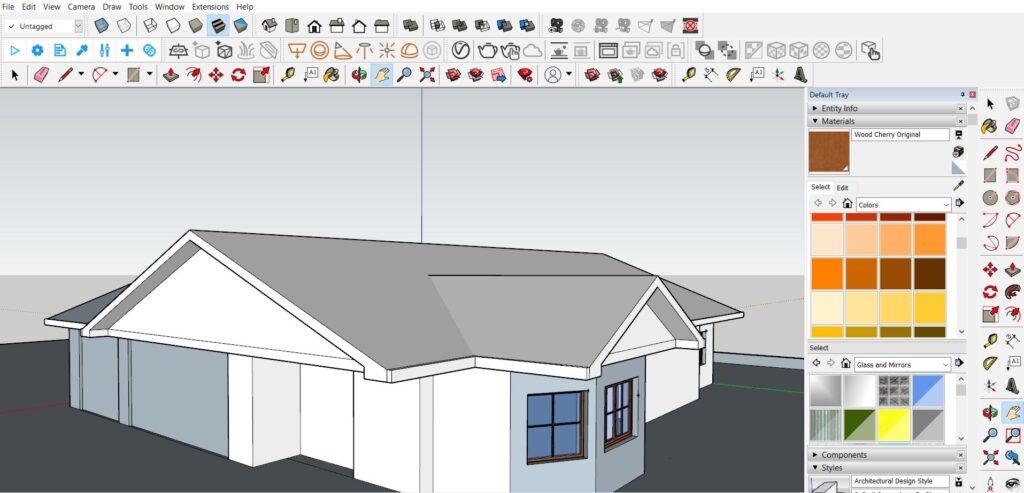sketchup çatı yapımı