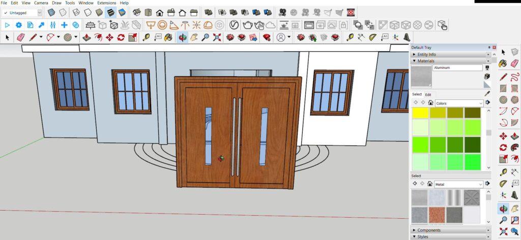 sketchup kapı modelleme