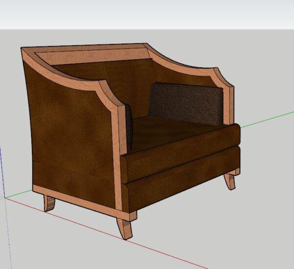 sketchup koltuk modelleme döşeme