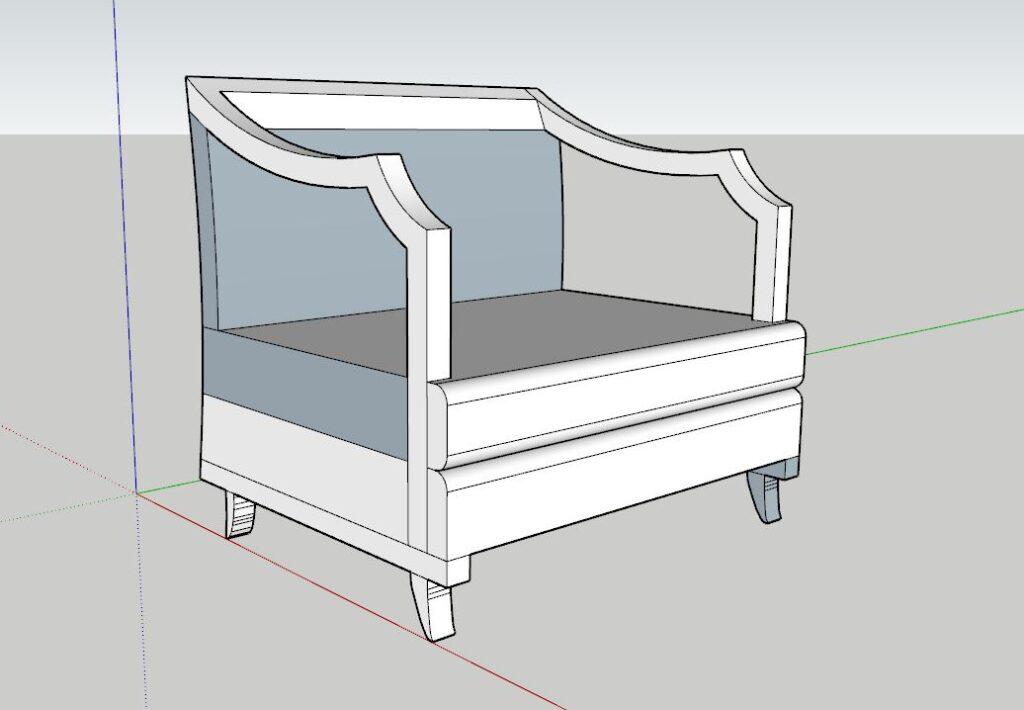 sketchup koltuk modelleme tasarım