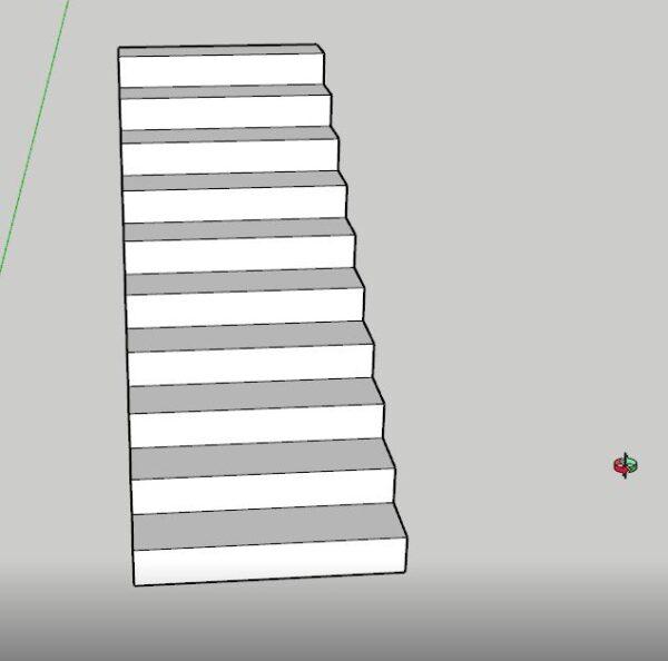 sketchup merdiven basamağı ölçüleri