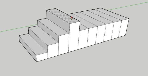 sketchup merdiven basamağı yapımı