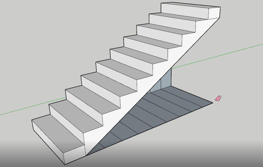 sketchup merdiven gereksiz çizgileri silme