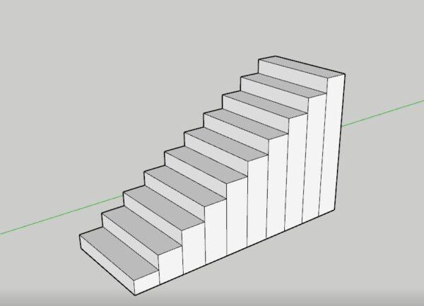 sketchup merdiven kalıbının ayarlanması