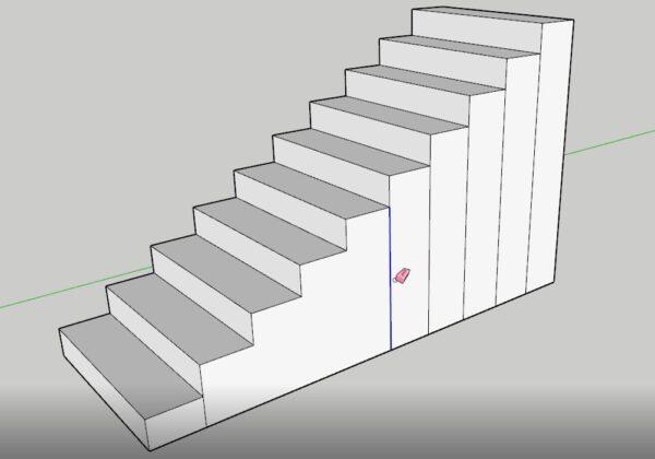 sketchup merdiven kalıbı yapımı