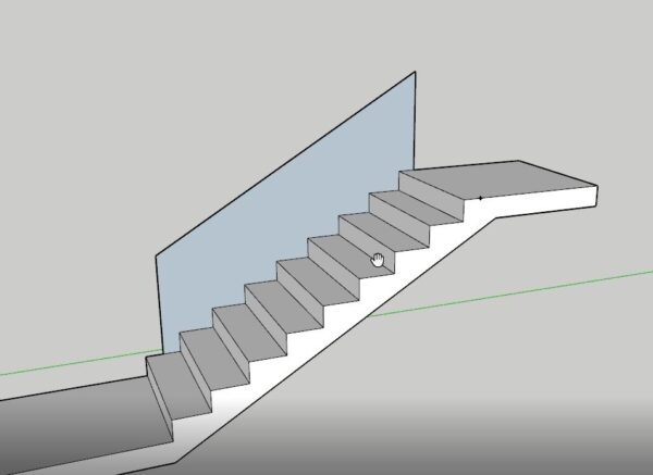 sketchup merdiven korkuluk çizimi