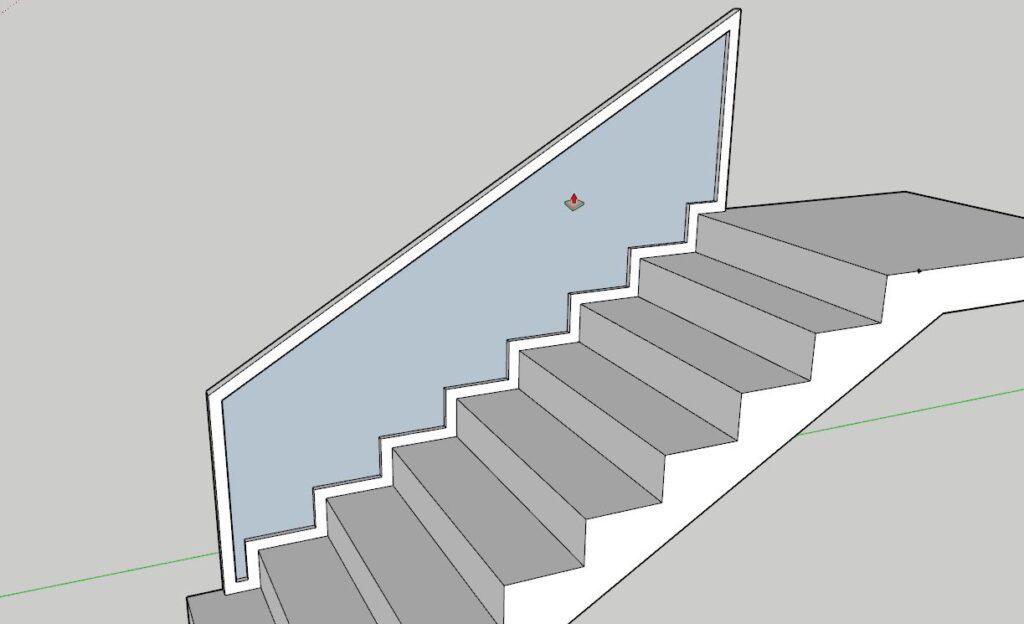 sketchup merdiven korkuluk tasarımı