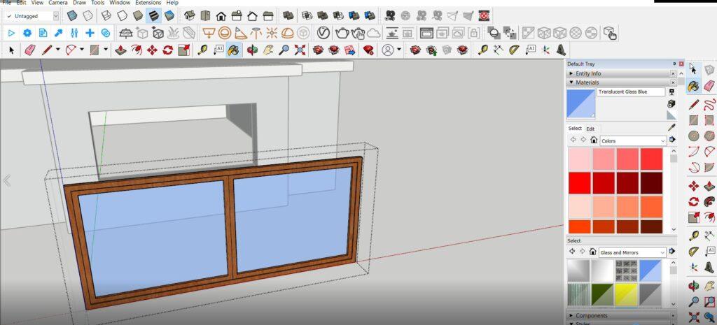 sketchup pencere modelleme