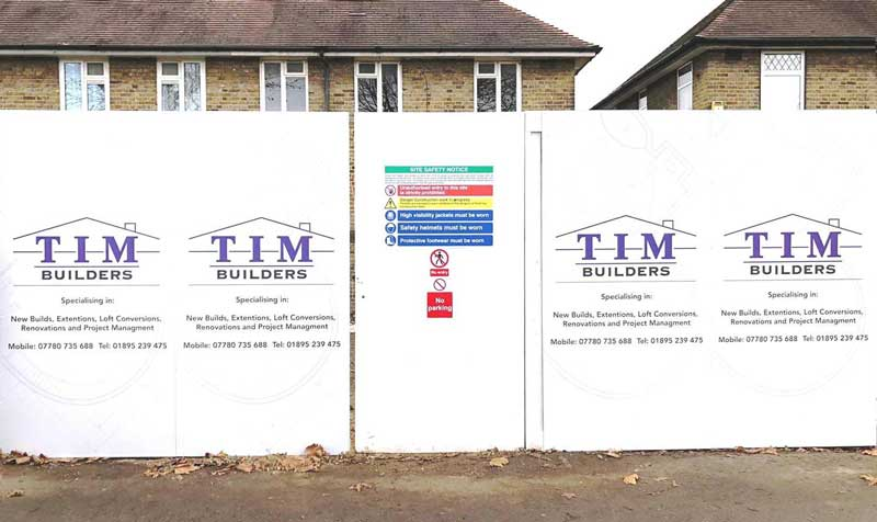 Printed Construction Site Hoardings, Printed Hoarding Panels