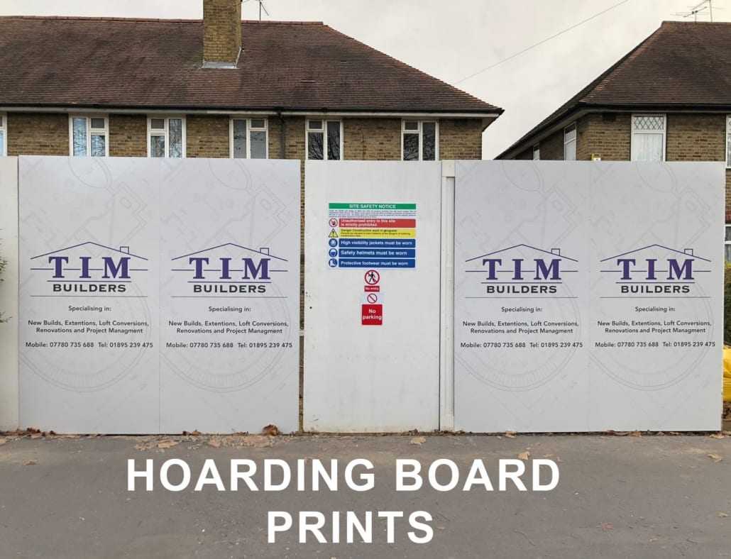 Hoarding Boards, Signage