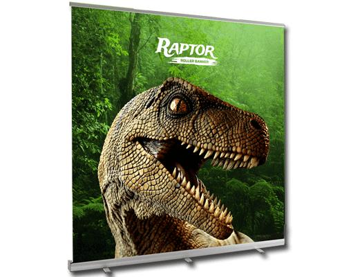 Wide Printed Roller Banner showing raptor