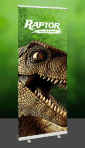 Raptor roller banner -Printed banners-