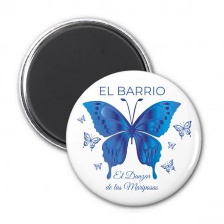 Imán de chapa de 59mm. Modelo mariposa