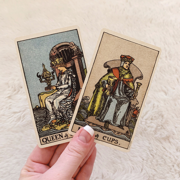 The King and Queen of Cups in a love Tarot reading combination