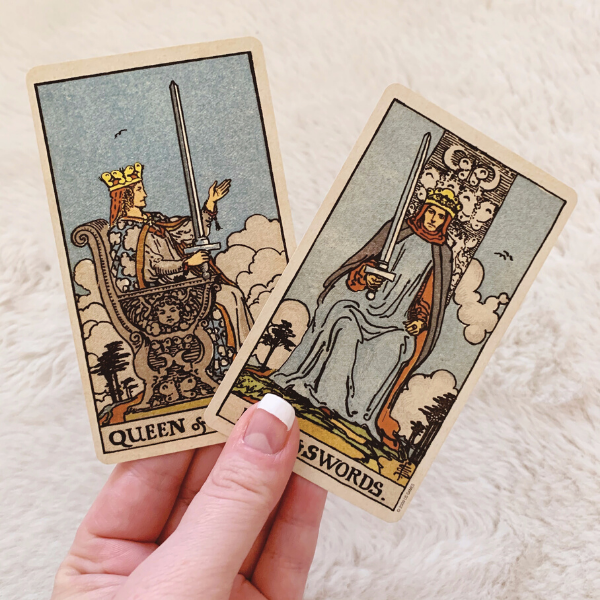 The King and Queen of Swords in a love Tarot reading combination
