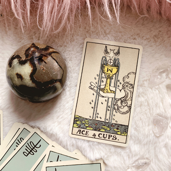 The Tarot Ace of Cups for relationships, love, outcome, future, ex returning, yes or no
