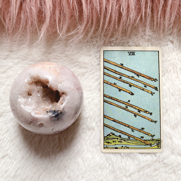 The Tarot Eight of Wands for relationships, love, outcome, future, ex returning, yes or no.