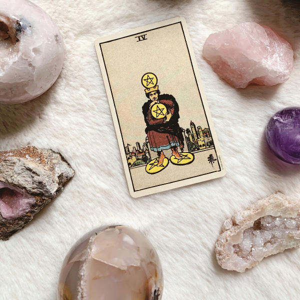 The Tarot Four of Pentacles for relationships, love, outcome, future, ex returning, yes or no.