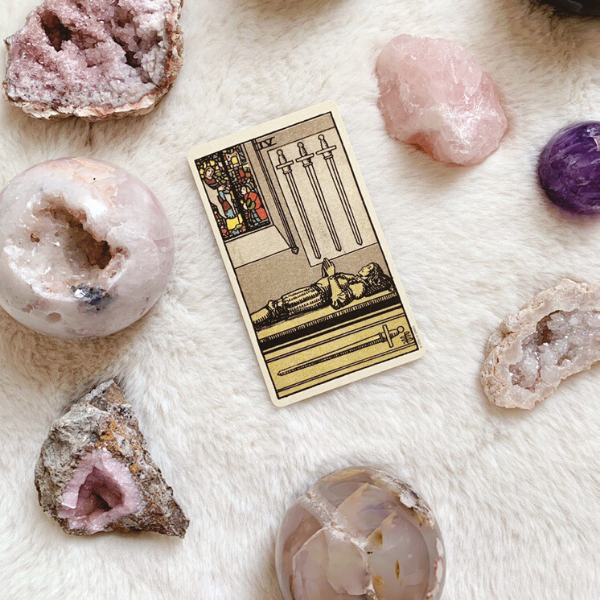 The Tarot Four of Swords for relationships, love, outcome, future, ex returning, yes or no.