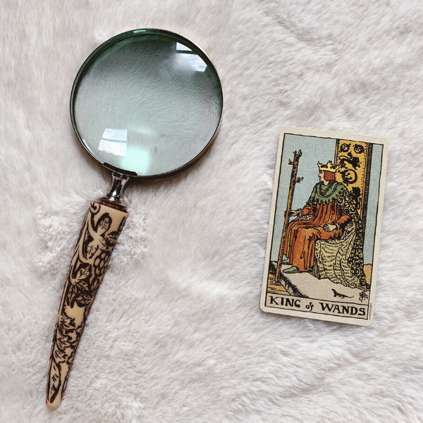 The Tarot King of Wands for relationships, love, outcome, future, ex returning, yes or no.