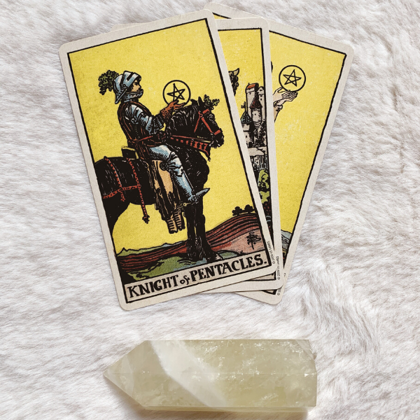 The Tarot Knight of Pentacles for relationships, love, outcome, future, ex returning, yes or no.