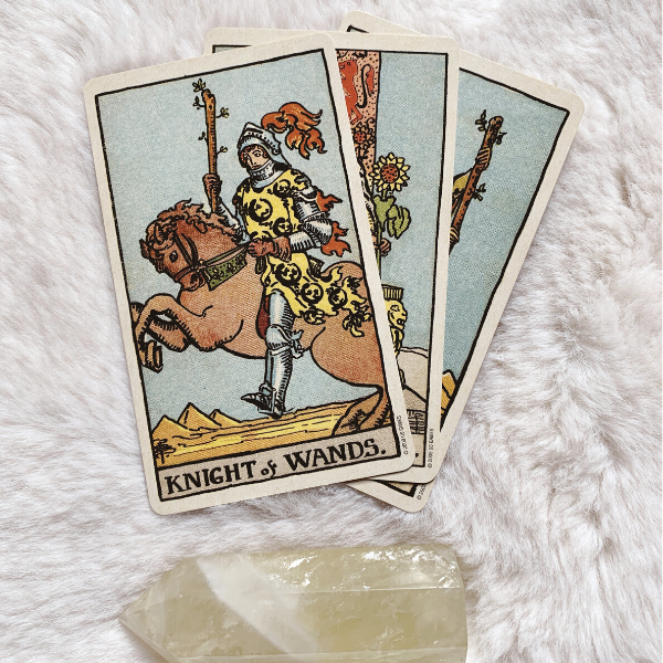 The Tarot Knight of Wands for relationships, love, outcome, future, ex returning, yes or no.