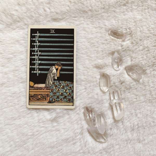 The Tarot Nine of Swords for relationships, love, outcome, future, ex returning, yes or no.