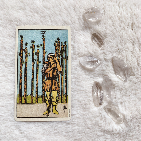 The Tarot Nine of Wands for relationships, love, outcome, future, ex returning, yes or no.