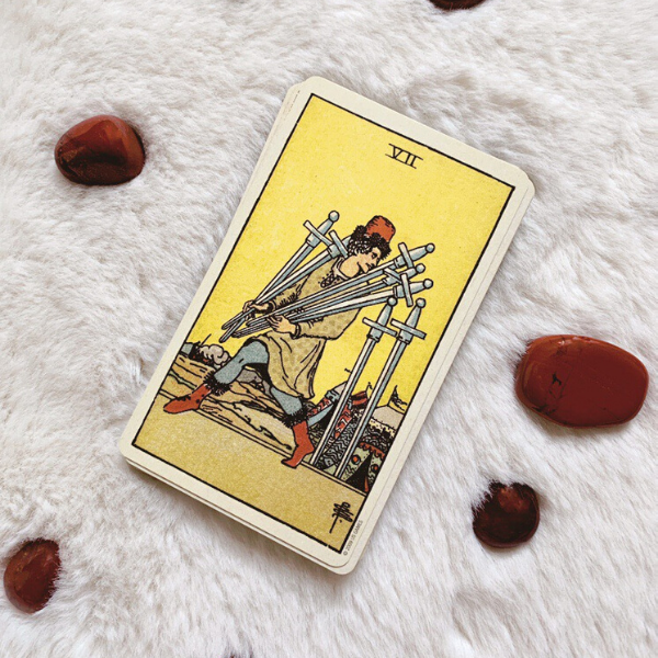 The Tarot Seven of Swords for relationships, love, outcome, future, ex returning, yes or no.