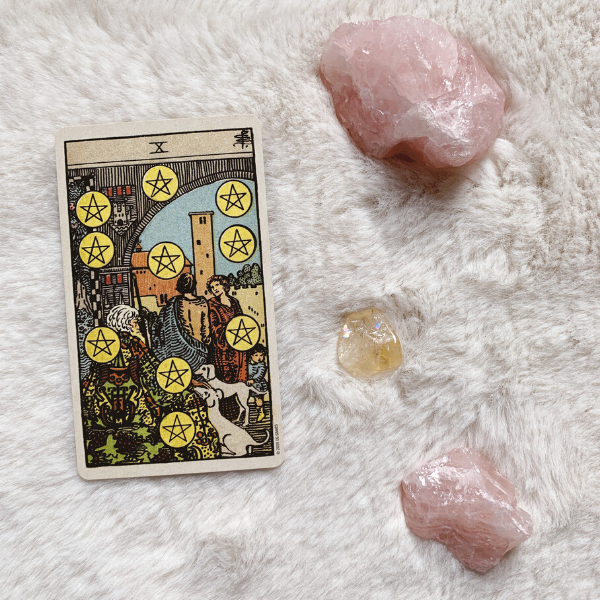 The Tarot Ten of Pentacles for relationships, love, outcome, future, ex returning, yes or no.
