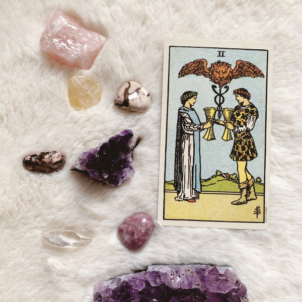 The Tarot Two of Cups for relationships, love, outcome, future, ex returning, yes or no.