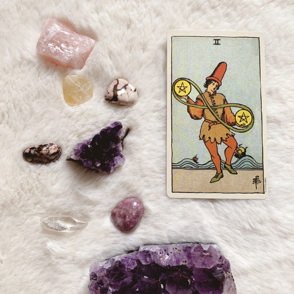 The Tarot Two of Pentacles for relationships, love, outcome, future, ex returning, yes or no.