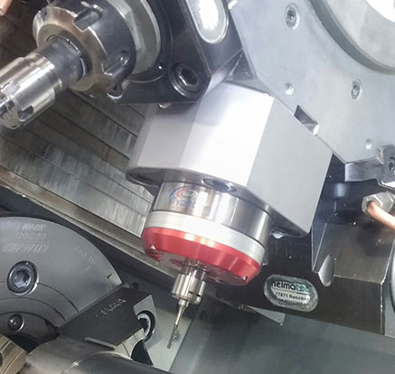 coolant driven HSM jet spindle mounted on tool holder