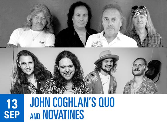 LIVE: 13/09/2020 – John Coghlan's Quo & Novatines