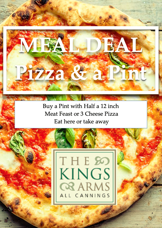 Meal Deal – 1/2 Pizza & a Pint