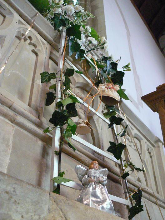 St Mary's Sompting 2007 Flower Festival: Jacob's ladder