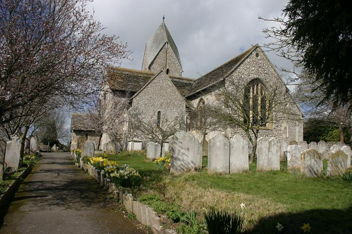 A view of St. Mary's church from the east.