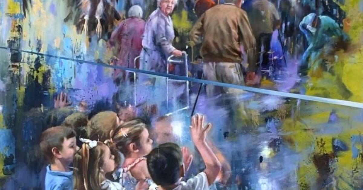 Painting by Spanish artist Juan Lucena