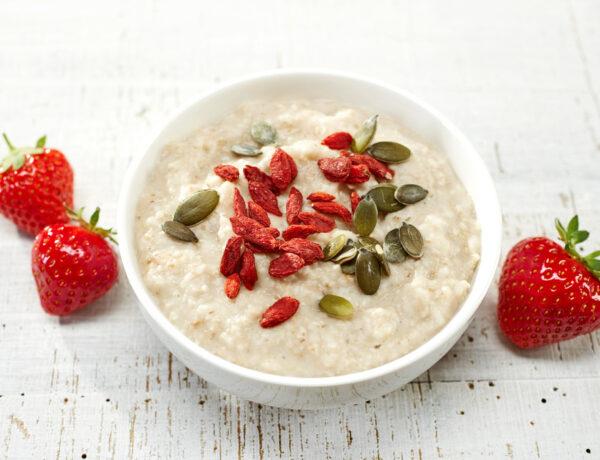 oat porridge with healthy seeds