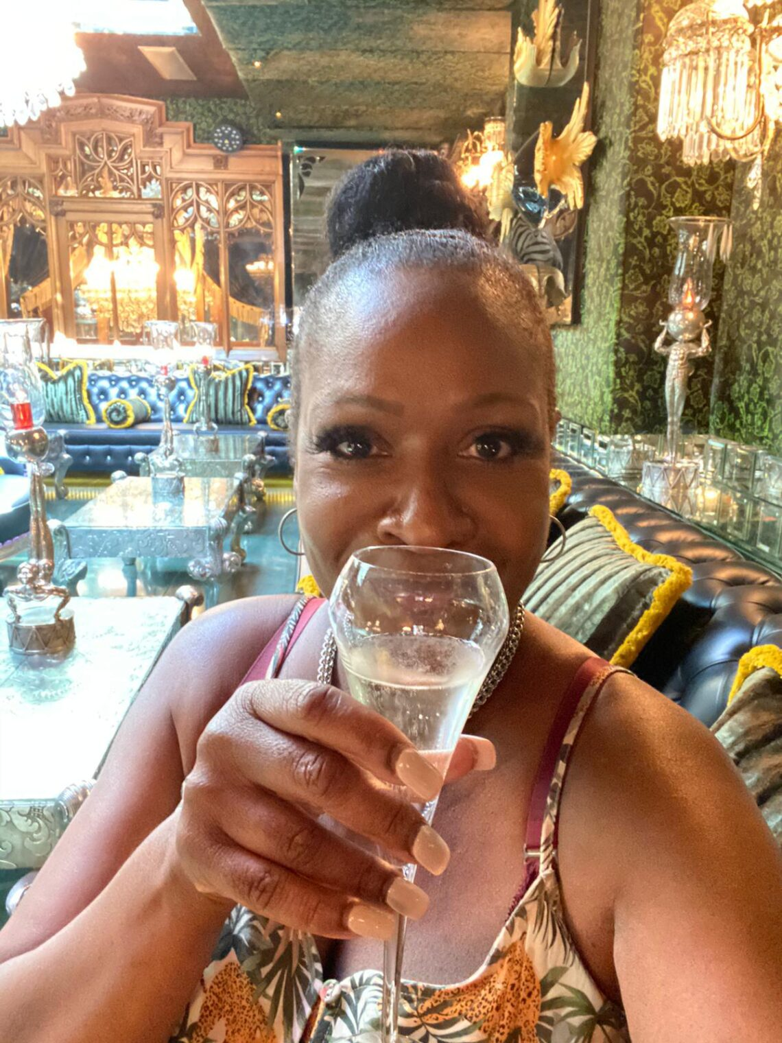 Angie Greaves at The Crazy Bear Hotel