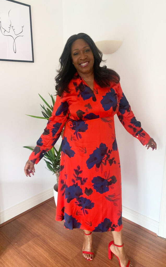 Winser London Red Flower Print Dress