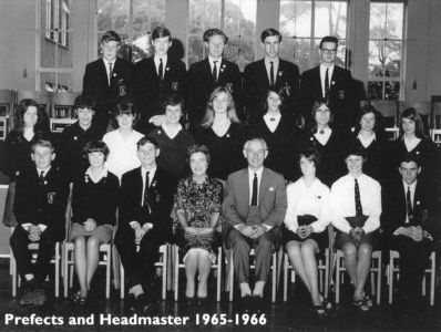 Grey Court Prefects and Headmaster 1965-1966