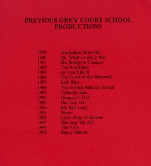 Grey Court Productions 1979-1995