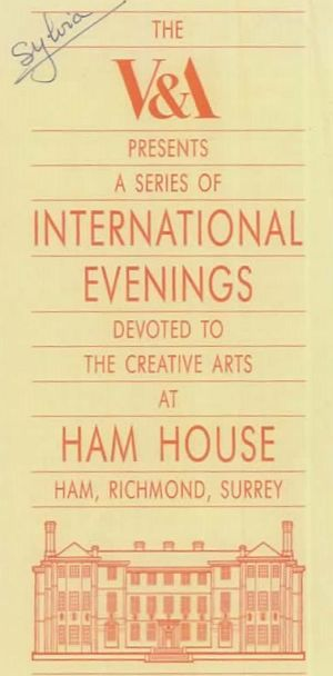 Ham House International Evenings Programme