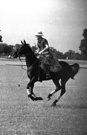 Ham Polo Johnny Traill on Horseback 1