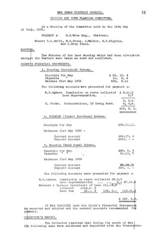 Housing & Town Planning Committee 08 14 Jun 1932 1