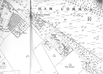 Map Brown Gates and polo field 1933