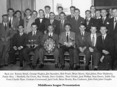 Middlesex League Presentation 1955