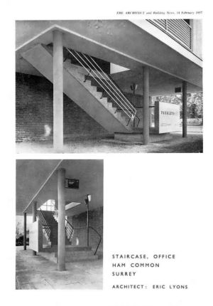 Parkleys staircase from the Architect Feb 1957